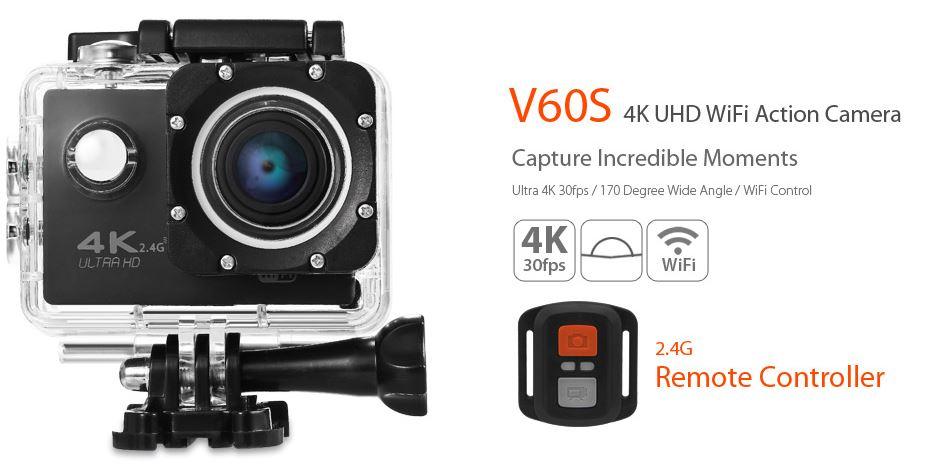 V60S 4K UHD camara deportiva techaldia.com