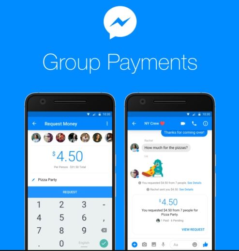 facebook messenger pagos
